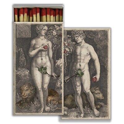 HomArt - Match Box Set of 2 - Adam & Eve - Red
