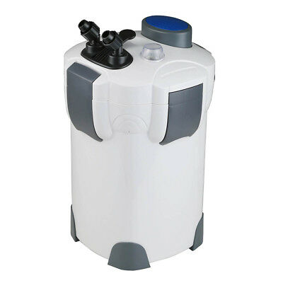 525GPH FREE MEDIA 200 Gallon Aquarium Canister Filter UV 9w Sterilizer Fish Tank