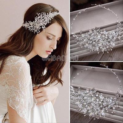 Wedding Prom Bridal Bridesmaid Crystal Rhinestone Women Headband Tiara Hair Band