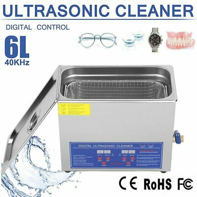 6l Stainless Steel Digital Ultrasonic Cleaner Ultra Sonic Bath Heatertimer