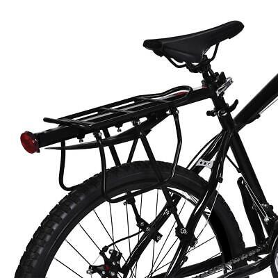 Motorcycle Luggage Carriers - Bike Bicycle Luggage Seat Quick Release Post Pannier Carrier Rear Rack + Fender