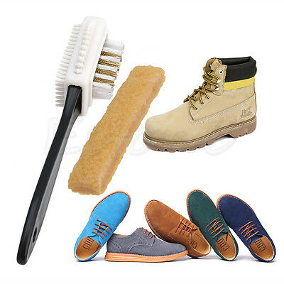 New Cleaning Brush + Free Rubber Eraser Set For Suede Nubuck Shoes Boot Cleaner