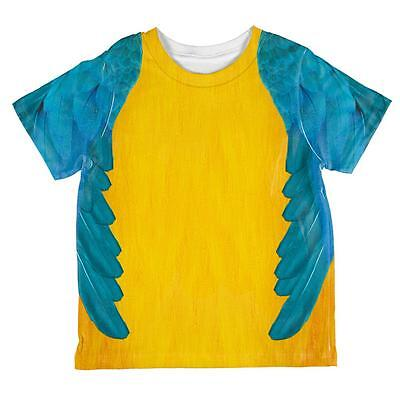 Halloween Blue & Yellow Parrot Macaw Costume All Over Toddler T - Blue Macaw Halloween Costumes