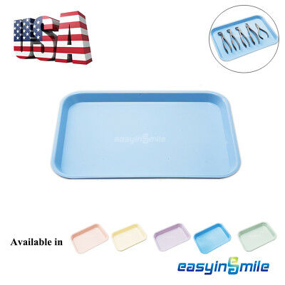Dental Flat Plastic Instrument Tray Size B Autoclave Easyinsmile 13.25 X 9.75