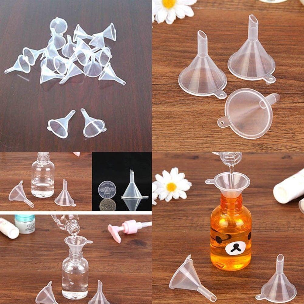 10 Stk Mini Trichter Kunststoff Kleiner Trichter für Parfüm Küche Füllungs