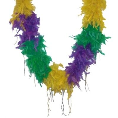 Boa Mardi Gras Sectional Boa Beaded Feather 20s Flapper - Teen Adult