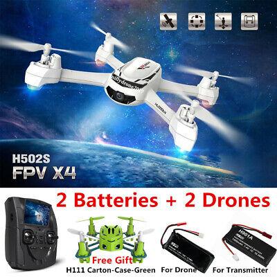 Hubsan H502S X4 Drone 5.8G FPV RC Quadcopter W/ 720P HD Camera GPS RTH,RTF+H111