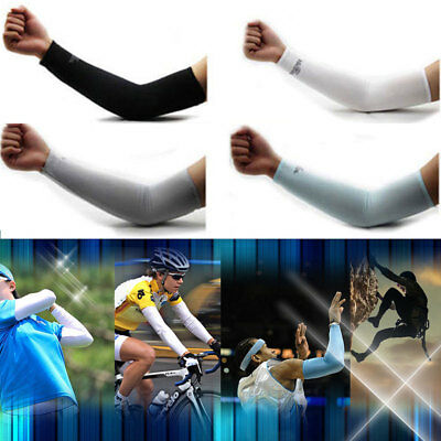 5 Pairs Unisex Outdoor Sports Cooling Arm Sleeves Cover UV Sun Protection