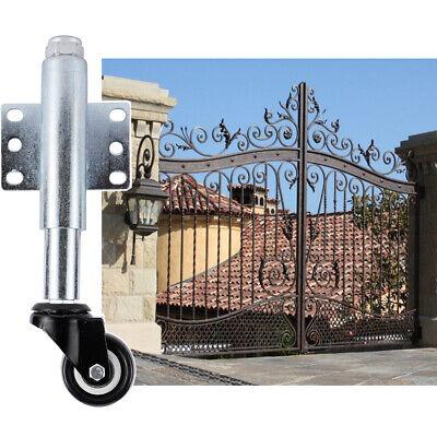 2 Gate Stem Wheel Pu Gate Wheel Heavy Duty Spring Loaded Swivel Caster 110lbs