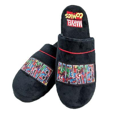 Marvel Comics Helden Superhelden Logo Hausschuhe Pantoffeln Fanartikel 42-45 neu