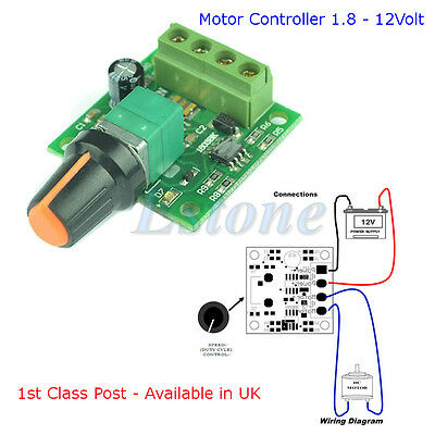 DC 1.8V 3V 5V 6V 12V MOTOR Speed Controller PWM Available in UK - 1st class Post