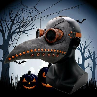 PU Leder Pest Doktor Cosplay Steampunk Maske Vogel Gothic Maske Halloween Kostüm