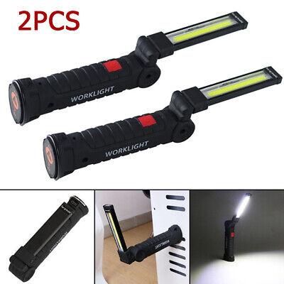 Recargable Cob LED Delgado Trabajo Lámpara Linterna Inspeccione Plegable