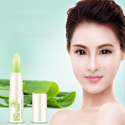 Portable Natural Aloe Vera Moisturizing Lip Balm Colorless Repair Lip Skin Care