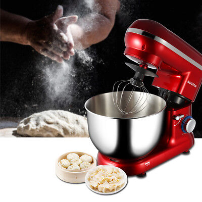 Aucma 6 Speed Food Stand Mixer with Baking 5.5L Mixing Bowl Splash Guard 600W US