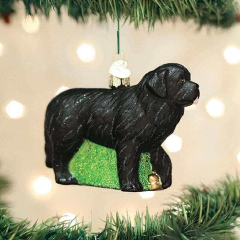 Old World Christmas NEWFOUNDLAND Blown Glass Dog Breed Ornament