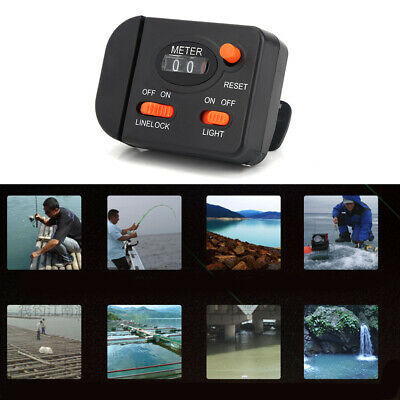 Boat Fishing C9P3 999.9M Digital Display Fishing Line Counter FOR Outdoor Raft