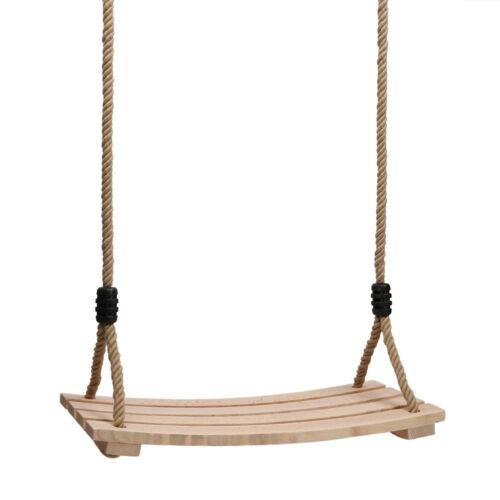 Erwachsene Kinderschaukelsitz mit Holzbrett Hängesitz Einstellbar Seil bis150kg