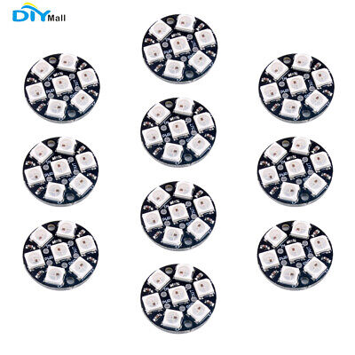 10x7bits Ws2812 5050 Rgb Led Ring Lamp Light With Integrated Drivers For Arduino