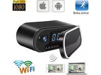Mini WIFI 1080P Night Vision HD SPY Hidden Camera Clock P2P Motion Detection EW