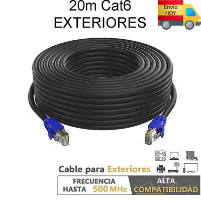 CABLE RED ETHERNET EXTERIOR CAT6 20 METROS 20m GIGABIT 1000 mbps ENVIO...