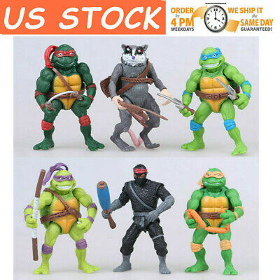 6PCS Teenage Mutant Ninja Turtles 2nd Action Figures Classic Collection Toys New