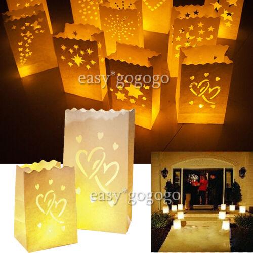 20x Lichttüten Kerzentüten Luminarias Papier Candlebags Kerzen Weihnachts Deko