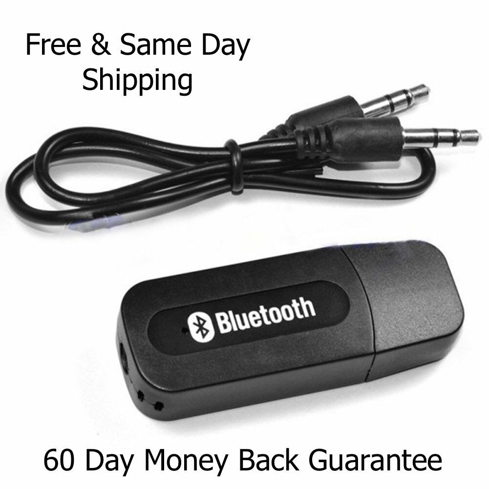 Wireless USB Bluetooth Music Audio Receiver Adapter 3.5mm Dongle A2DP Car A123