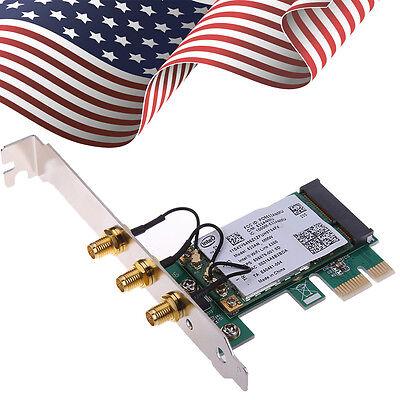 450Mbps Intel WiFi Wireless PCI-Express x1 Adapter Desktop Card and 3 Antennas