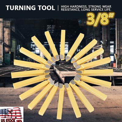 20pcs 38 Lathe Tools Carbide Tipped Welding Milling Cutting Turning Tool Set