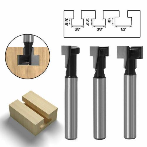 3 Stk T-Nutfräser Profilfräser Ø8mm 1/4 Holz Nuten Fräser Nuter Schaft Werkzeug