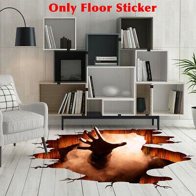 Removable Waterproof PVC Floor Sticker Bar Halloween Party 3D Print Club Home