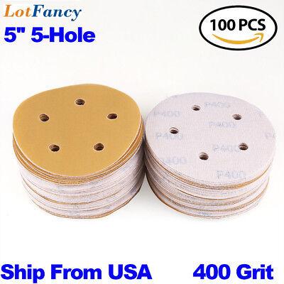 5 inch 400 Grit Sanding Discs Orbital Sander Round Sandpaper Hook Loop Sheet Pad