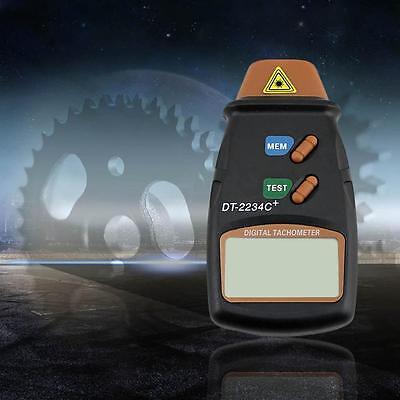Digital Laser Photo Tachometer Non Contact Rpm Tach Meter Motor Speed Gauge V