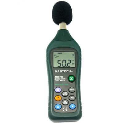 Mastech Ms6708 Lcd Digital Sound Level Meter Decibel Tester Meter Usa