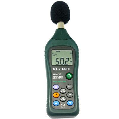 Mastech Ms6708 Lcd Digital Sound Level Meter Decibel Tester Meter Usa