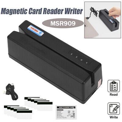 Msr909 3 Tracks Magnetic Stripe Card Reader Writer Encoder Credit Magstrip Usb