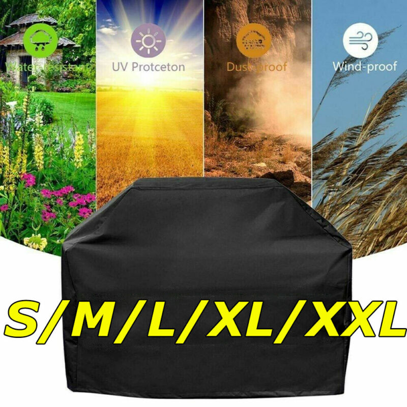 """BBQ Grill Cover 37""""-75"""" Gas Barbecue Heavy UV Duty Protection Waterproof Outdoor"""
