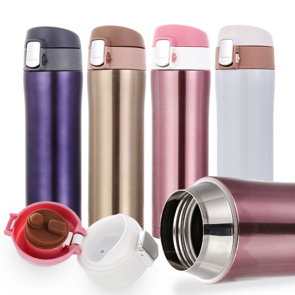Stainless Steel Insulated Thermos Cup Flask Travel  Mug Wate