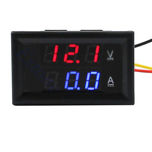 New-DC-4-5-30V-0-100A-Dual-LED-Digital-Volt-Meter-Ammeter-Voltage-AMP-Power