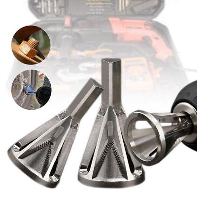 Deburring Tool Durable Remove Burr Cutting Drill Bit External Chamfer Bit Silver