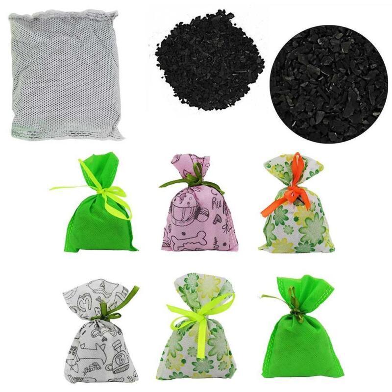 1pc Cartoon Charcoal Bag Air Purifier Closet Pet Bamboo Deodorizer Freshner