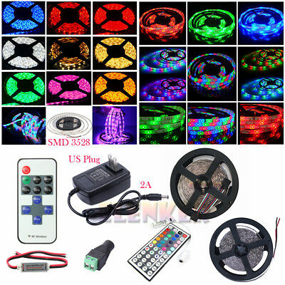LED Strip Light SMD 3528 Flexible Tape 300led DC12V indoor outdoor lighting rope