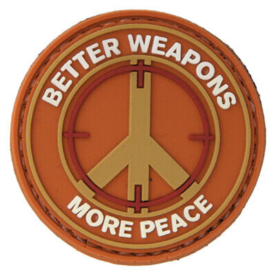 Lancer Tactical Better Weapons More Peace PVC Hook & Loop Morale Patch