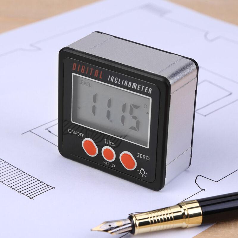 Waterproof Digital Protractor Gauge Level Angle Finder Inclinometer Magnet Base