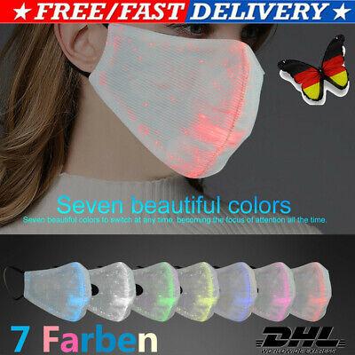 7 Farben Leuchtende LED Staubmaske Licht Cool für Kostüm Party Karneval Nacht - Coole Kostüm Für Karneval