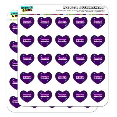 (Sweetest Godmother Heart Shaped Planner Calendar Scrapbook Craft Stickers)