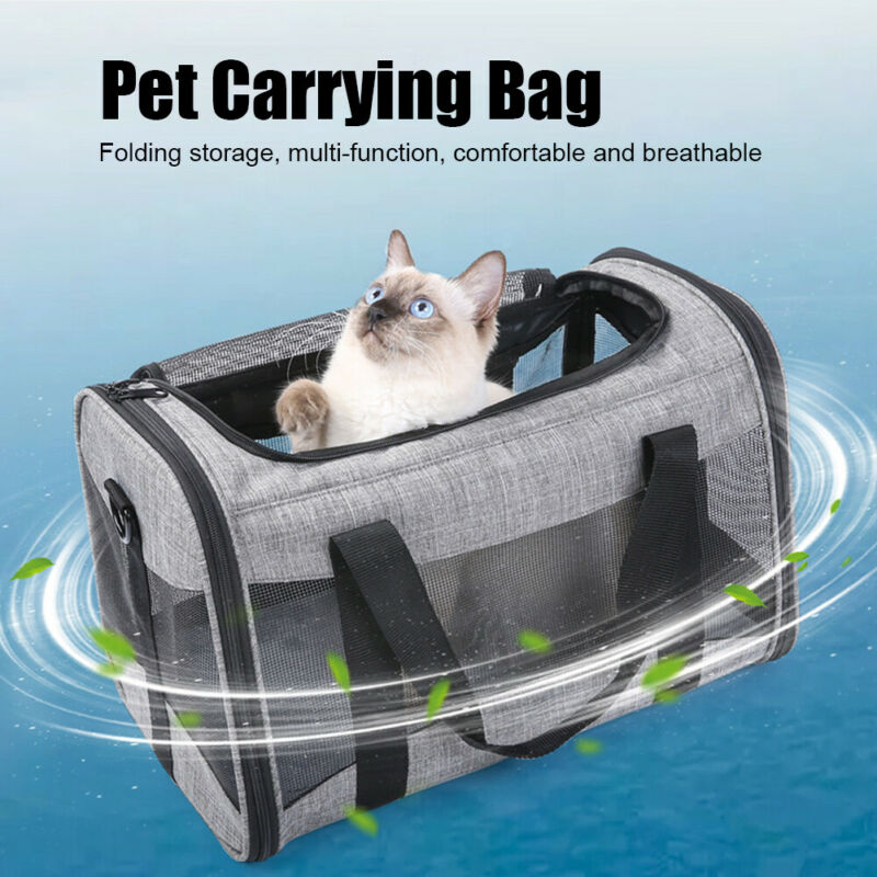 Portable Collapsible Pet Carrying Bag Breathable Under 6KG Handbag Travel