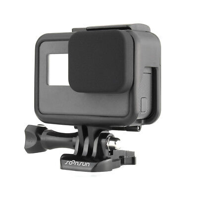 Standard Frame Border Housing Case Mount + Soft Lens Cap For GoPro HERO5 6 Black