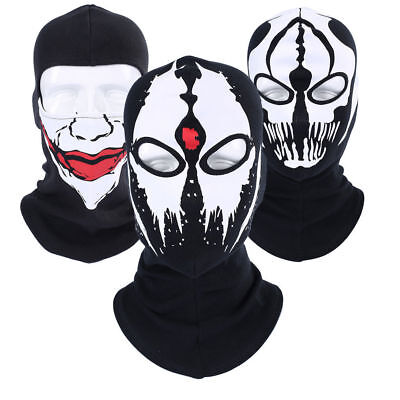 Scary Halloween Face (Halloween Scary Ghost Cosplay Balaclava Cycling Skull Full Hood Face Mask Hat)
